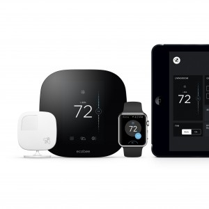 Ecobee3 wi-fi thermostat with room sensor
