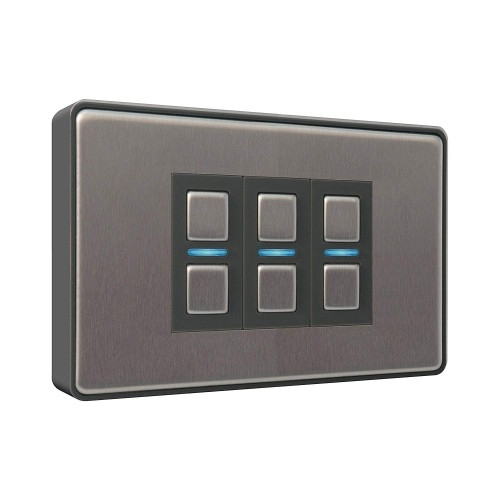 Lightwave – Smart Dimmer (3 Gang) Stainless Steel