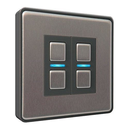 Lightwave – Smart Dimmer (2 Gang) Stainless Steel