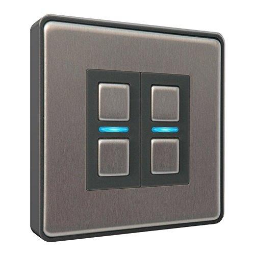 Lightwave – Smart Dimmer (2 Gang) Stainless Steel