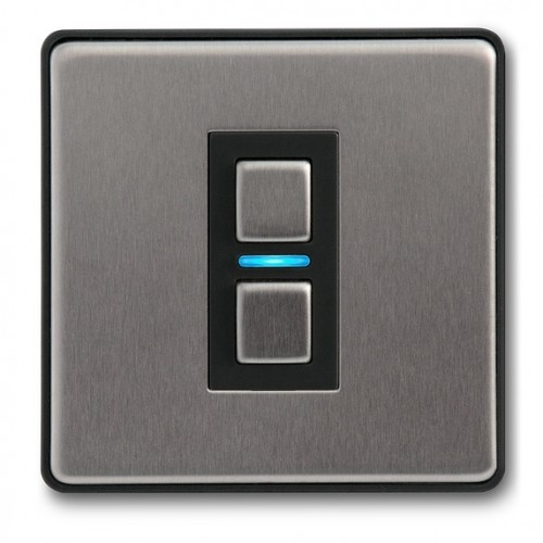 Lightwave – Smart Dimmer (1 Gang) Stainless Steel