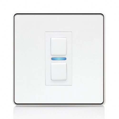 Lightwave – Smart Dimmer (1 Gang) White Metal